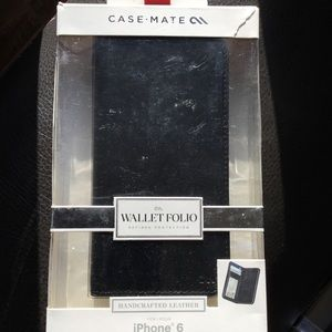 Case Mate iPhone 6 Leather Wallet Folio Case